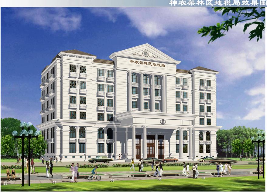 欧式建筑办公楼效果图内容|欧式建筑办公楼效果图版面设计