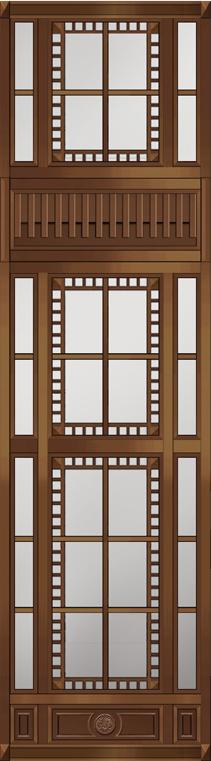 铜门窗效果图3