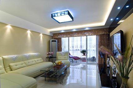 现代日式公寓客厅设计