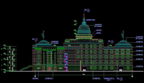 法院欧式建筑-波阳法院设计图纸3