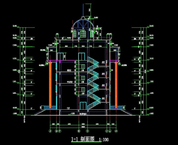 欧式风格办公楼-贵州财政局设计图纸3