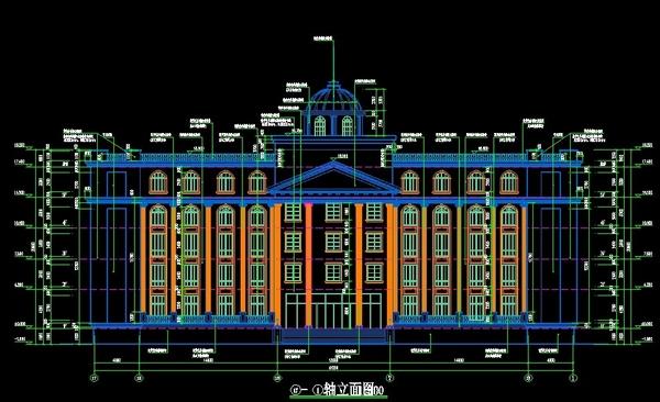 欧式风格办公楼-贵州财政局设计图纸1