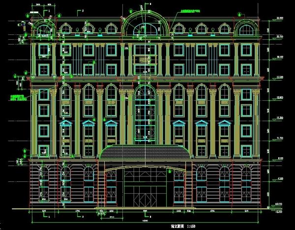 欧式风格宾馆-湖南医院设计图纸2
