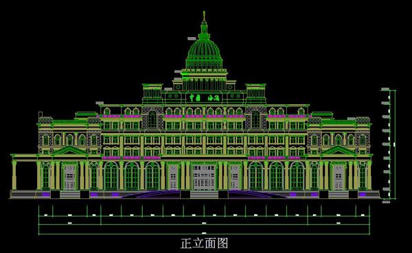 欧式建筑-浙江嘉兴海关设计图纸2