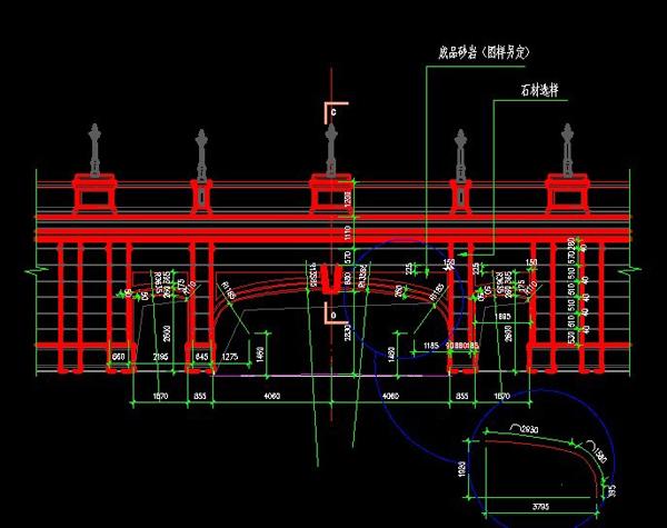 欧式风格大桥江苏盐城设计图纸3