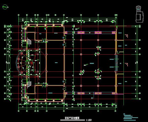 江苏欧式风格礼堂设计图纸5