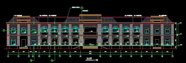 浙江欧式风格宾馆设计图纸2