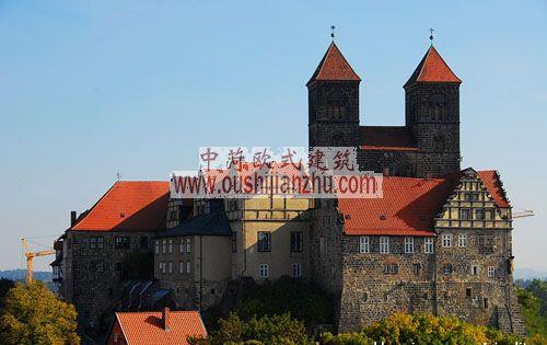 奎德林堡城堡山上的教堂