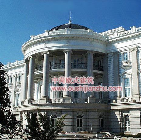 crc白麻石欧式建筑设计外观