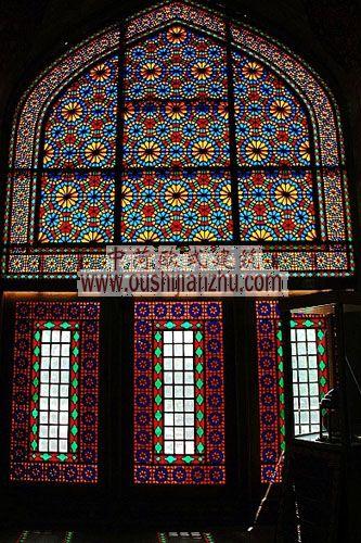 伊朗清真寺花窗