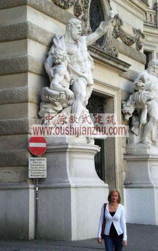 奥地利维也纳霍夫堡皇宫的雕塑