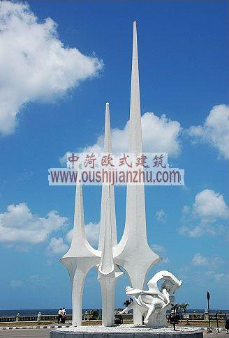 埃及亚历山大海边雕塑