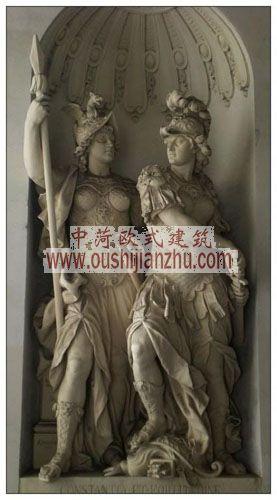 奥地利维也纳茜茜公主展览馆雕塑