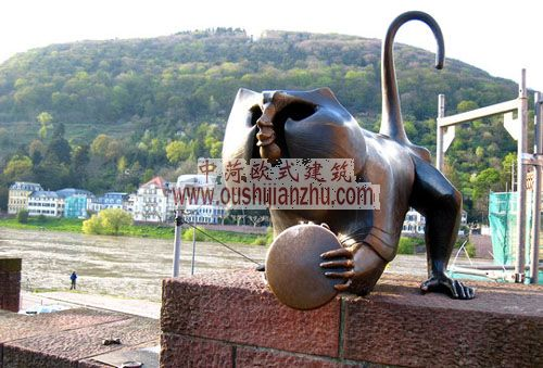 德国海德堡猴子雕像