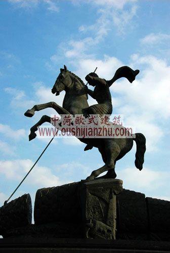 俄罗斯莫斯科胜利广场雕塑