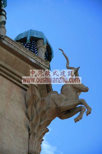 南非开普敦的王宫酒店雕塑