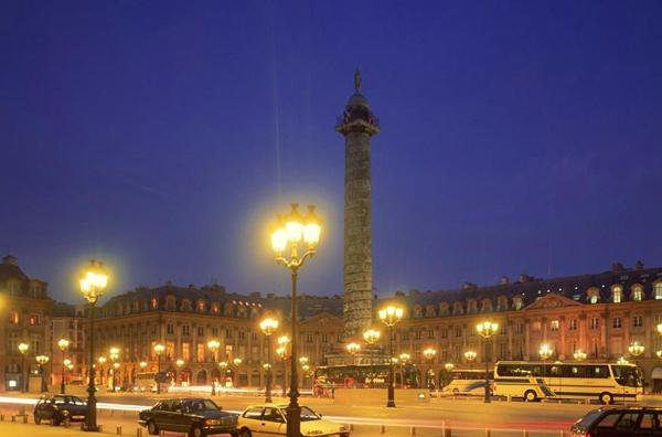法国古典主义建筑-协和广场夜景