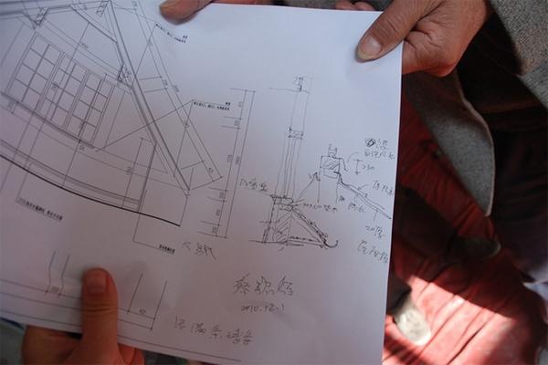 改进凡水构造减缓木构支承点潮湿腐朽的不利影响