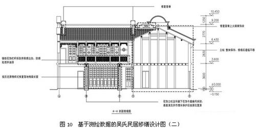 吴氏民居基于测绘数据的修缮设计图(二)
