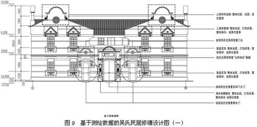 吴氏民居基于测绘数据的修缮设计图(一)