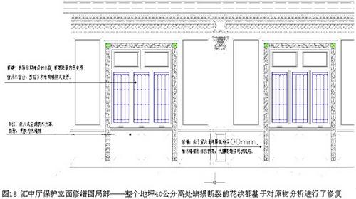 汇中厅保护立面修缮图局部