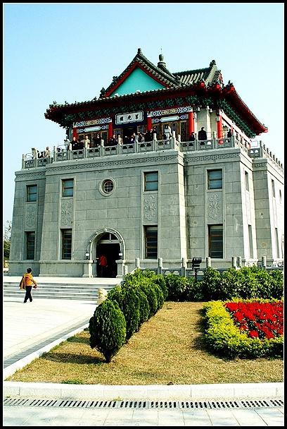 传统闽南式砖柱拱廊骑楼