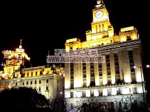 海关大楼夜景
