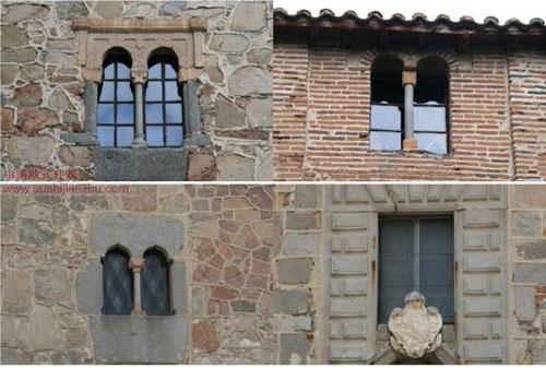 中世纪宫殿的窗户