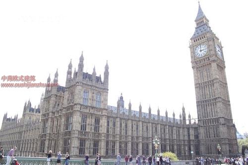 英国议会大夏和大本钟9