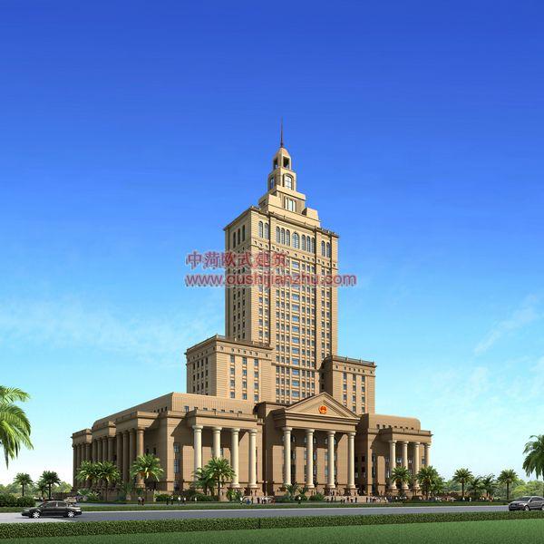 欧式建筑-法院透视一