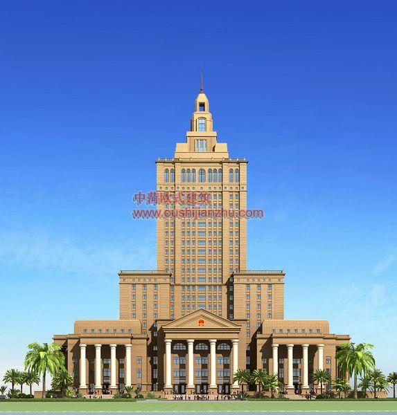 欧式建筑-法院透视四