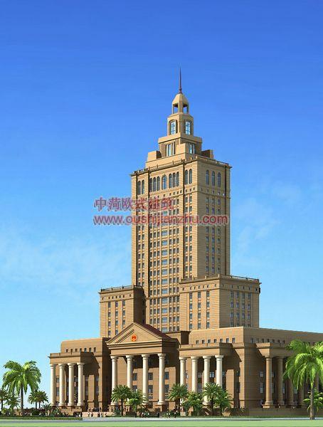 欧式建筑-法院透视二
