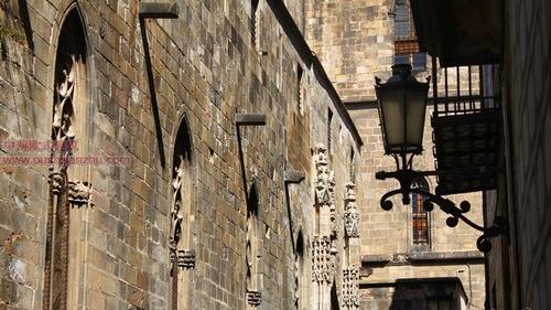 巴塞罗那的哥特老城区