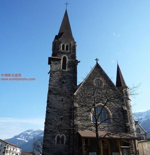 北欧的一座乡村小教堂