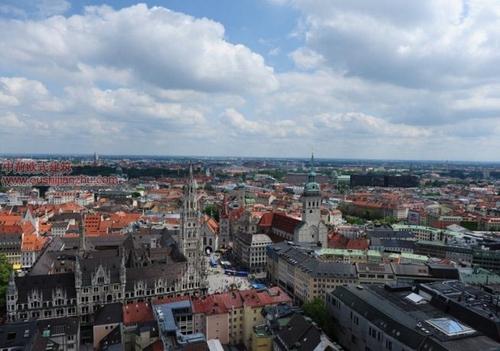 慕尼黑的圣母教堂俯瞰1
