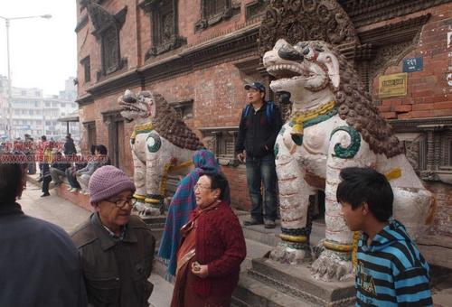 尼泊尔加德满都的杜巴广场3