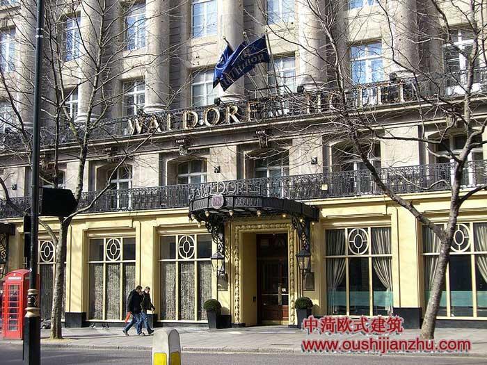 伦敦的欧式建筑酒店
