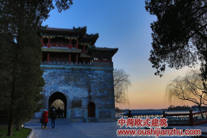 北京颐和园文昌阁 - 古建筑施工设计