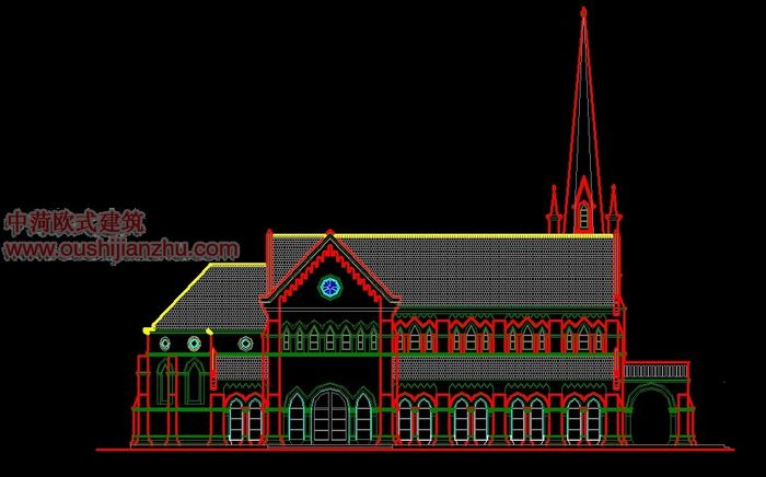 天主教堂立面图1