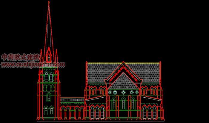 天主教堂立面图3