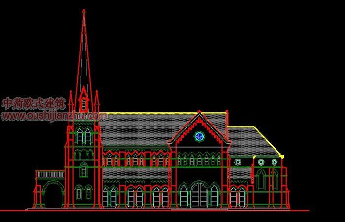 天主教堂立面图2