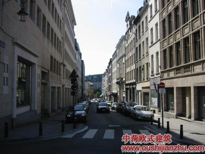 布鲁塞尔的街景建筑