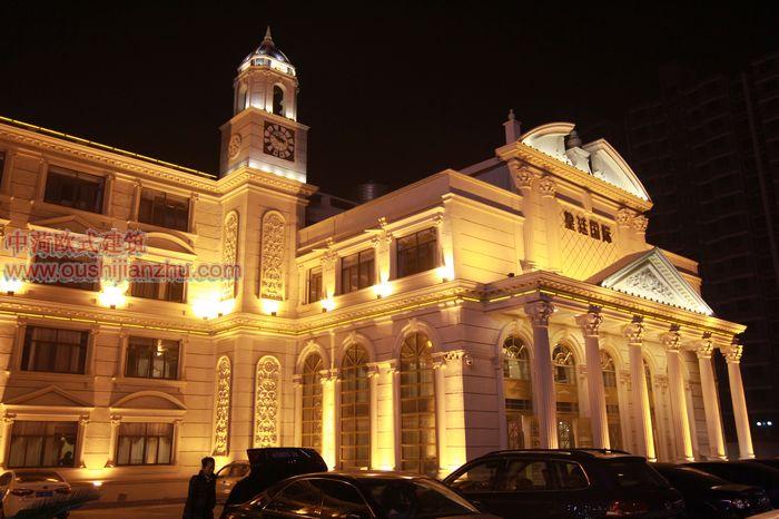 欧式建筑酒店夜景03