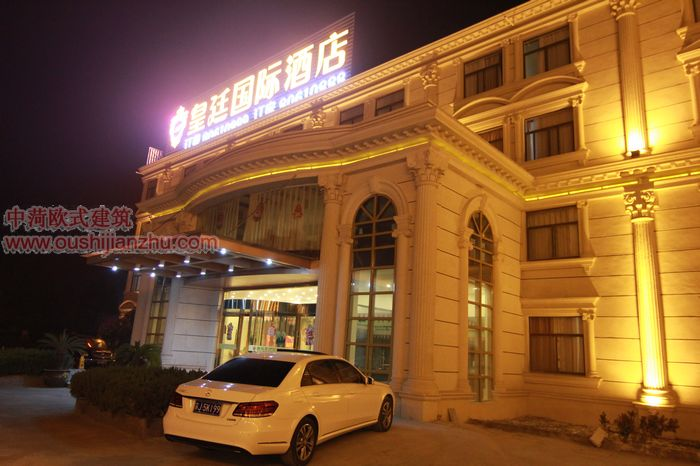 欧式建筑酒店夜景05