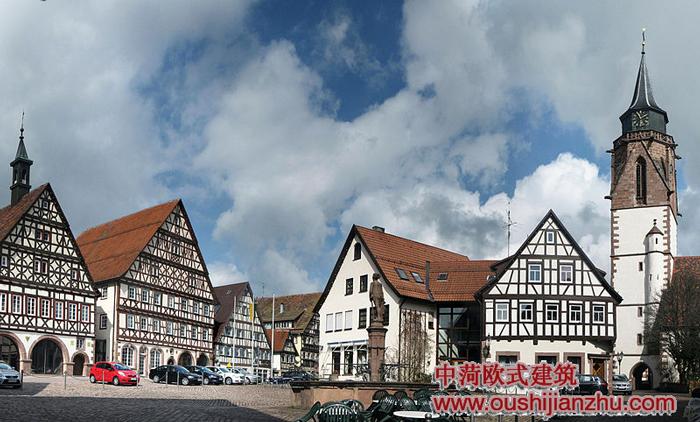 现代欧式风格建筑