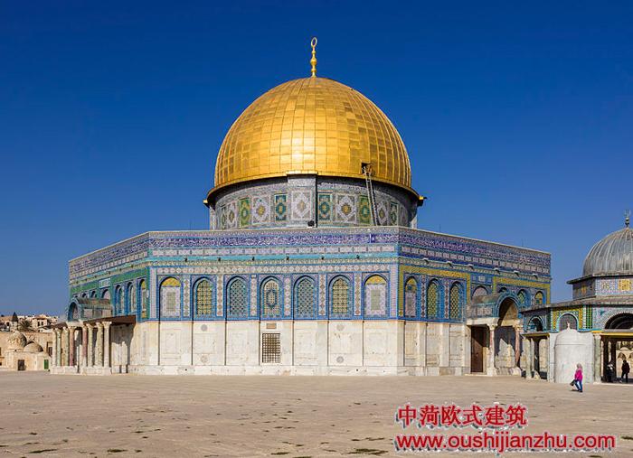 岩石的圆顶清真寺 - 欧式建筑风格