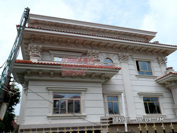 别墅CRC白麻石施工3