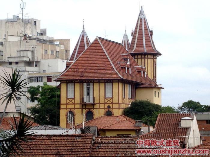 欧式古堡建筑物