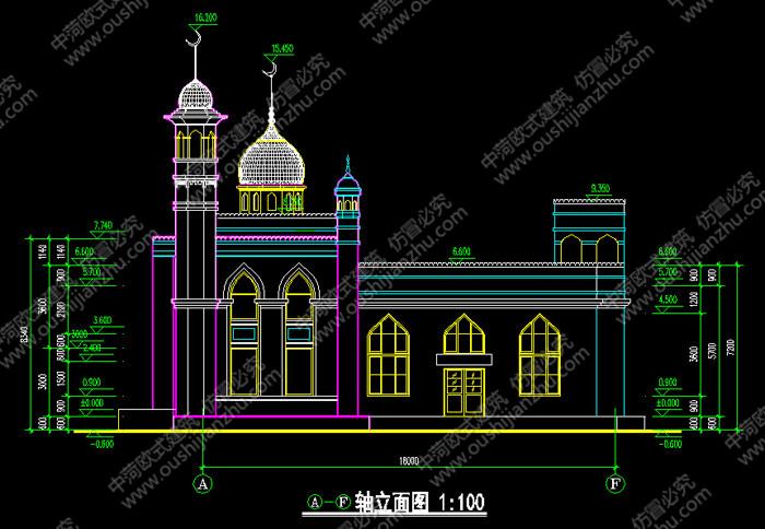 安徽清真寺方案图侧面