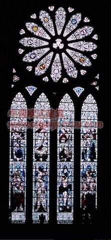 教堂的彩窗画1